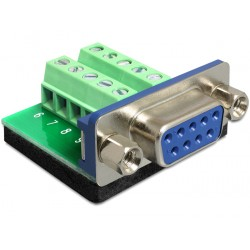 Delock Adapter DB9 Sub-D 9 pin female Terminal Block 10 pin