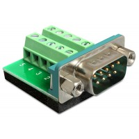 Delock Adapter DB9 Sub-D 9 pin male Terminal Block 10 pin