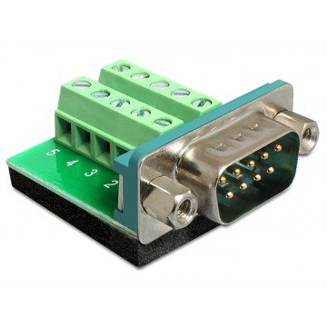 Terminal adapter DB9 Sub-D 9pin męski Delock 65269