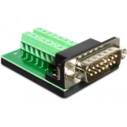 Delock Adapter Sub-D 15pin Gameport male Terminal block 16pin