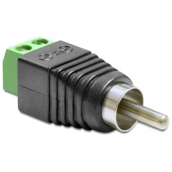 Terminal adapter Cinch 2pin męski Delock 65417