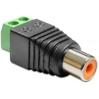 Delock Adapter RCA female Terminal Block 2pin