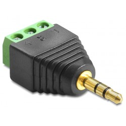 Delock Adapter Stereo plug 3.5 mm Terminal Block 3pin