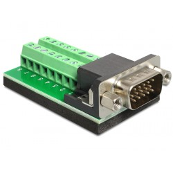 Delock Adapter VGA male Terminal Block 16pin