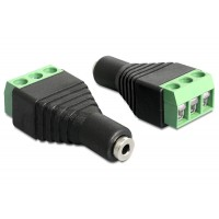 Terminal adapter Stereo 2,5mm 3pin żeński Delock 65456