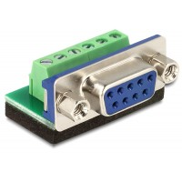 Delock Adapter Sub-D 9pin female Terminal block 6pin