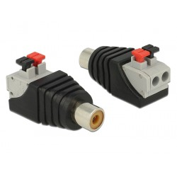 Delock Adapter RCA female Terminal Block with push button 2pin