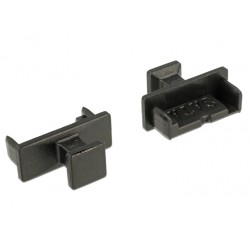 Delock Dust Cover for SATA 7 pin plug with grip black