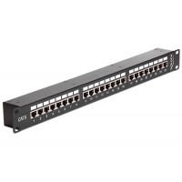 "Delock 19"" Coupler Patch Panel 24 Port Cat.6"