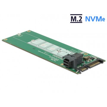 Adapter konwerter SATA 22 pin / SFF-8643 NVMe - M.2 NGFF do dysków M.2 Delock 62703